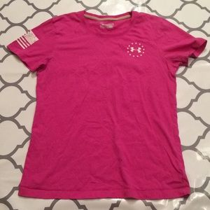 $7 under armour pink wounded warrior project tee